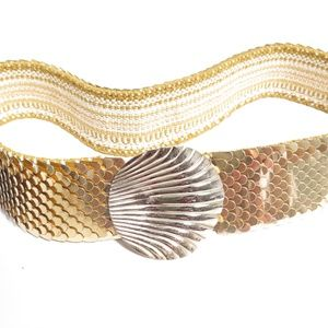 Vintage Gold Plated Shell Design Elasticized BELT